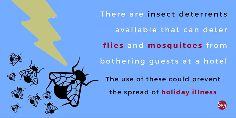 Fly deterrents are an option
