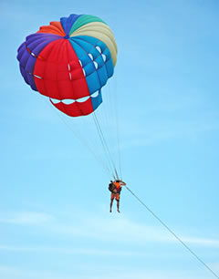 Parasailing holiday accident claim for compensation